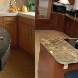 Granite Top and Corian Surfaces