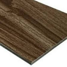 Aluminium Panel with Wide Frames in Wooden Grains Coated